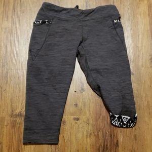 Patagonia crop workout leggings cuff patterned